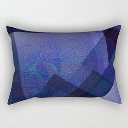Daring Indigo - Digital Geometric Texture Rectangular Pillow