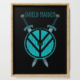 Viking Shield Maiden Badass Woman Warrior Serving Tray