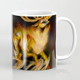 Fire elemental stag Coffee Mug