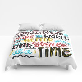 Dentist Lettering Quote Comforters