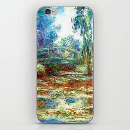 Monet Bridge over a Pond of Water Lilies,1899 iPhone Skin