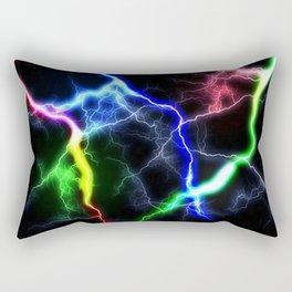Rainbow Thunder Rectangular Pillow