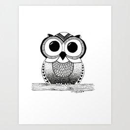 Wide Eyed Owl Art Print