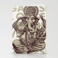 ganesh Stationery Cards featuring Ganesh by _MattVector
