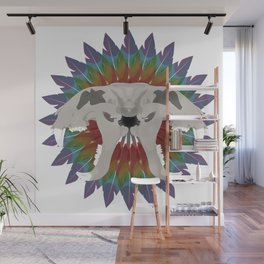 forked tiger skull Wall Mural