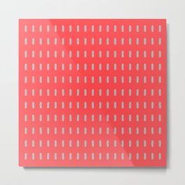 Pink and Grey Modernist Metal Print