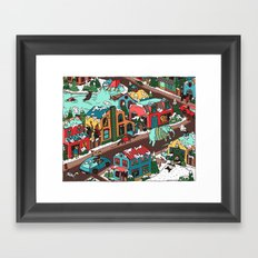This Place is a Zoo! Framed Art Print