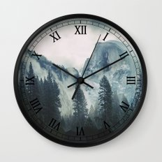 Cross Mountains Wall Clock