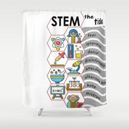 STEM the tide Shower Curtain