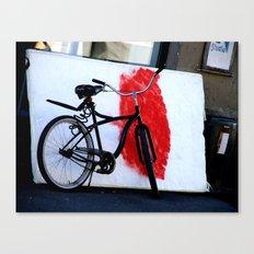 Bike and canvas Canvas Print
