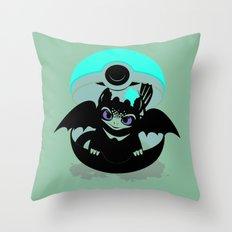 How To Catch Your Dragon Throw Pillow