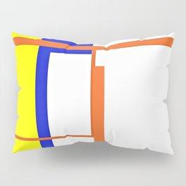 "CREATIVE ART PRINT WITH ORANGE, YELLOW AND BLUE ""THE RYAN"" Pillow Sham"