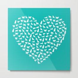 I Heart Cats Metal Print