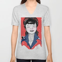 Pin Up Hapiness Unisex V-Neck