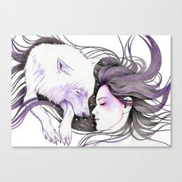 Sleep Like Woves Canvas Print