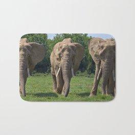 Elephant Heard Charging Bath Mat