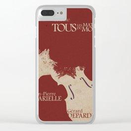 Gerard Depardieu,Tous les Matins du Monde, French Movie Poster, Alain Corneua, Jean-Pierre Marielle Clear iPhone Case