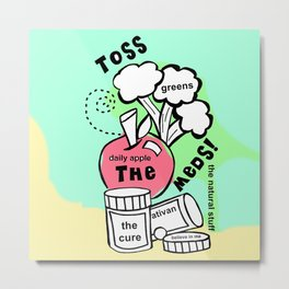 Toss the Meds by Rosalie - Zine Page Metal Print