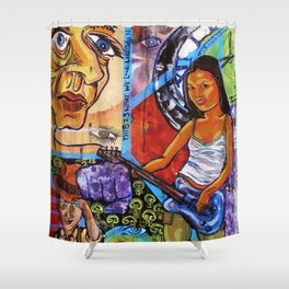 after midnight Shower Curtain