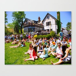 Princeton Terrace Club during Lawnparties Canvas Print