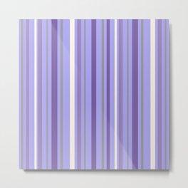 Luscious Lavender Stripes Metal Print