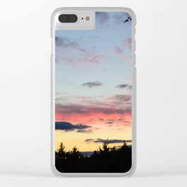 colorful night Clear iPhone Case