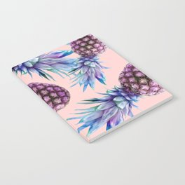 Purple Pineapple's on Coral Notebook