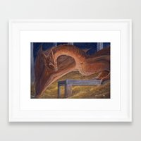smaug Framed Art Prints featuring Smaug by Penny-Dragon