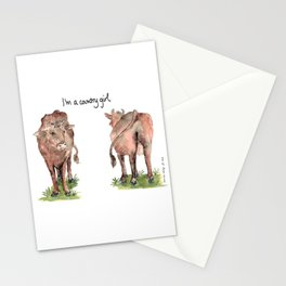 I'm a country girl Stationery Cards