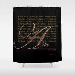 Sign Language for Aries Shower Curtain