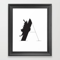 A is for Astronom Framed Art Print