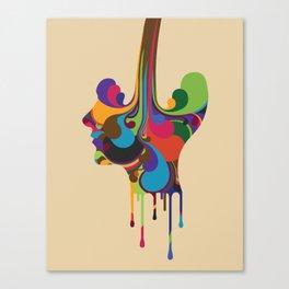 Poured Canvas Print