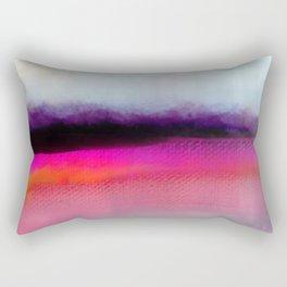 Pink Silver Rectangular Pillow