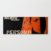 persona Canvas Prints featuring persona by Le Butthead