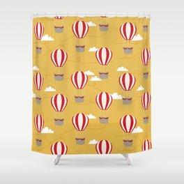 Hot air balloon pattern cute decor for boys or girls room Shower Curtain
