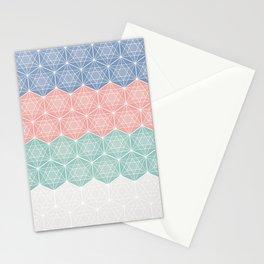 Icosahedron - geometric figure modern pattern Stationery Cards
