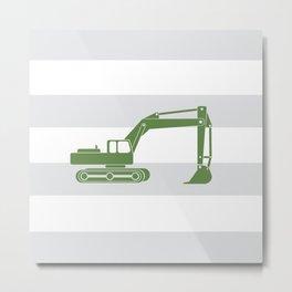 olive excavator Metal Print