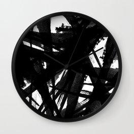 Abstract Strokes Wall Clock