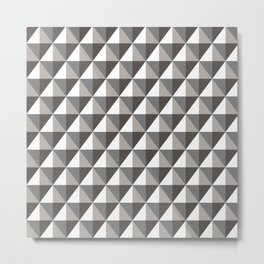 Black & Gray 3D Geometric Diamonds Metal Print