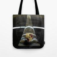 porsche Tote Bags featuring Porsche 356 by Regina Hoer