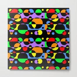 Rainbow Geometric Multicolored Modern Circle Pattern Metal Print