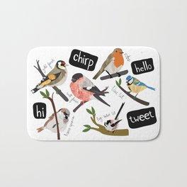 British Garden Birds Bath Mat