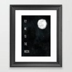 Fly me to the moon. Framed Art Print