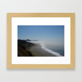 Oregon fog  Framed Art Print