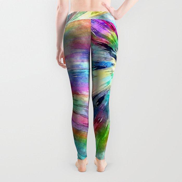 Colorful Tie Dye Watercolor Leggings