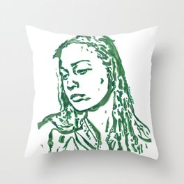 Fiona Apple in Lines Throw Pillow