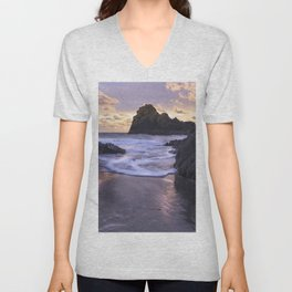 Kynance Cove, The Lizard, Cornwall, England, United Kingdom Unisex V-Neck