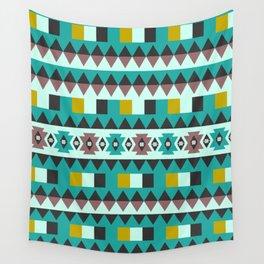 Aztec geometric pattern Wall Tapestry