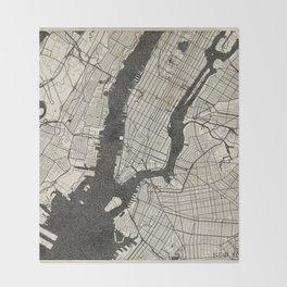 New York - Ink lines Throw Blanket