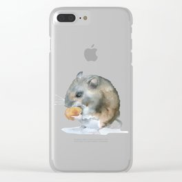 Mouse Watercolor Clear iPhone Case